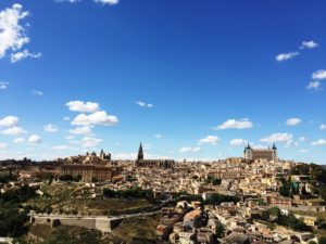 viees of Cathedral and Alcazar in Toledo